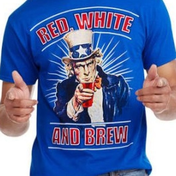 FRUIT OF THE LOOM Other - Uncle Sam Mens Americana Short Sleeve T-Shirt
